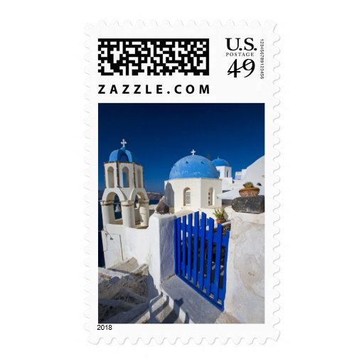 Greece and Greek Island of Santorini town of Oia 3 Stamps