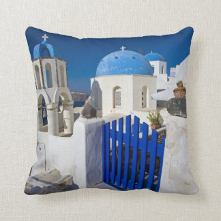 Greece and Greek Island of Santorini town of Oia 3 Throw Pillow