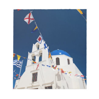 Greece and Greek Island of Santorini town of Oia 4 Note Pad