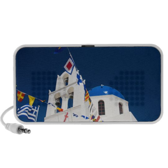 Greece and Greek Island of Santorini town of Oia 4 Portable Speaker