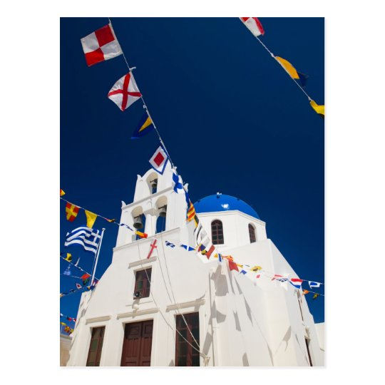 Greece and Greek Island of Santorini town of Oia 4 Postcard
