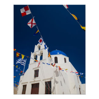 Greece and Greek Island of Santorini town of Oia 4 Poster