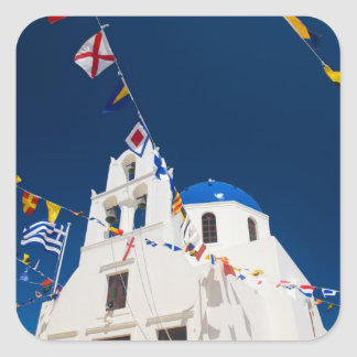 Greece and Greek Island of Santorini town of Oia 4 Square Sticker