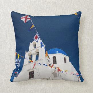 Greece and Greek Island of Santorini town of Oia 4 Throw Pillow