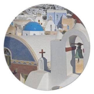 Greece and Greek Island of Santorini town of Oia 5 Melamine Plate