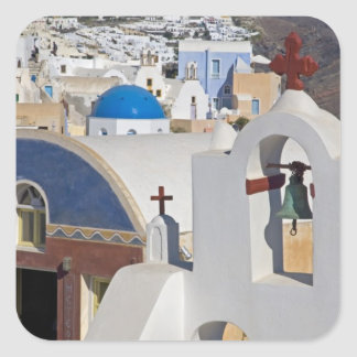 Greece and Greek Island of Santorini town of Oia 5 Square Sticker