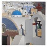 Greece and Greek Island of Santorini town of Oia 5 Tile