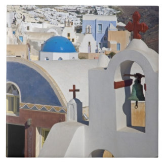 Greece and Greek Island of Santorini town of Oia 5 Tile