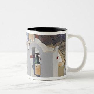 Greece and Greek Island of Santorini town of Oia 5 Two-Tone Coffee Mug