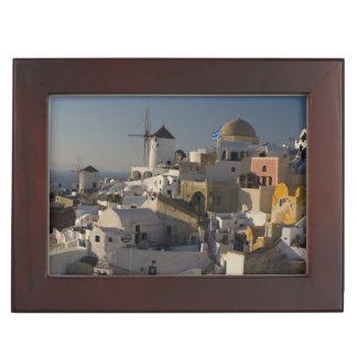 Greece and Greek Island of Santorini town of Oia Memory Box
