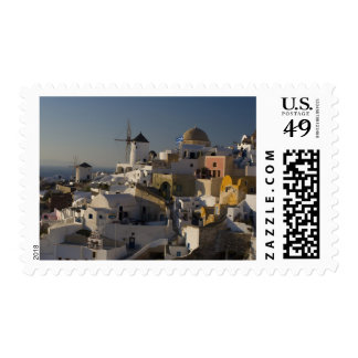 Greece and Greek Island of Santorini town of Oia Postage Stamp