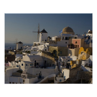 Greece and Greek Island of Santorini town of Oia Poster