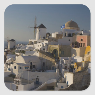 Greece and Greek Island of Santorini town of Oia Square Sticker