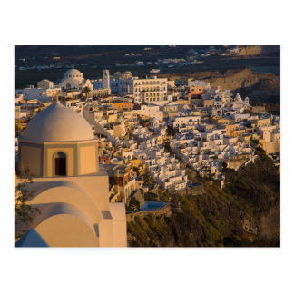 Greece and Greek Island of Santorini town of Postcards
