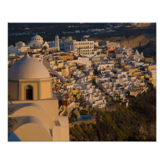 Greece and Greek Island of Santorini town of Poster