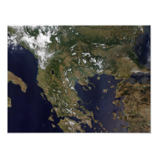 Greece and its surrounding countries photo print