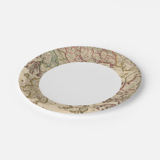 Greece and Macedonia Paper Plate