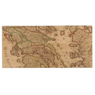 Greece and Macedonia Wood USB Flash Drive