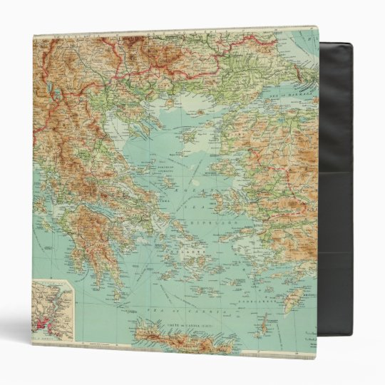 Greece and the Aegean 3 Ring Binder