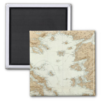 Greece and Turkey 2 Inch Square Magnet