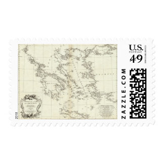 Greece and Turkey Engraved Map Postage