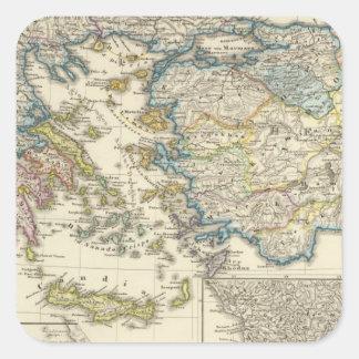 Greece, Asia Minor 1453 Square Sticker