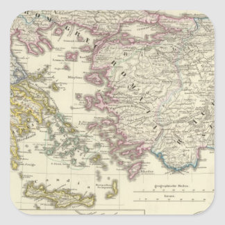 Greece, Asia Minor Square Sticker