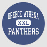 Greece Athena Panthers Middle Rochester Round Stickers