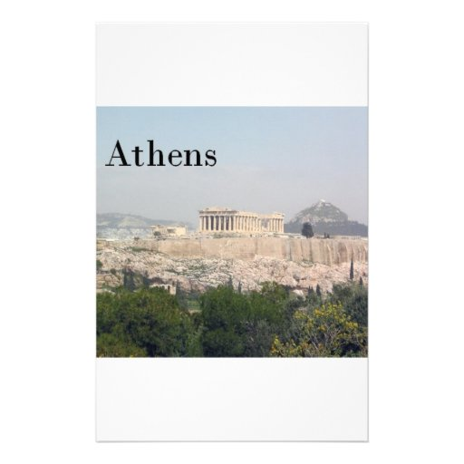 Greece Athens Acropolis Personalized Stationery