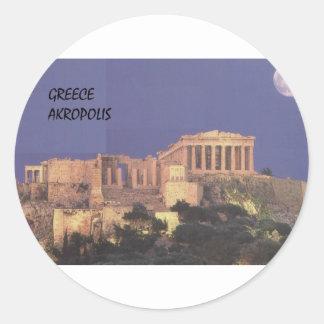 Greece Athens Akropolis Parthenon (St.K) Round Stickers