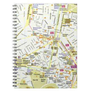 Greece athens city map notebook