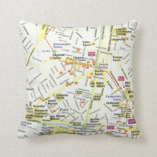 Greece Athens city map pillow
