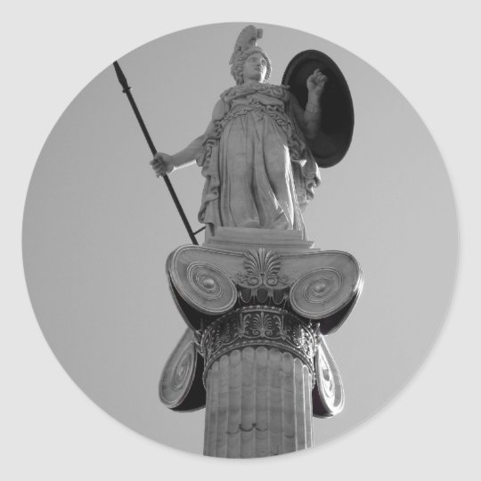 greece, athens classic round sticker
