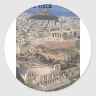 Greece Athens herodion Parthenon (St.K.) Classic Round Sticker