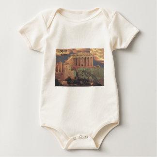 Greece Athens Parthenon Clouds (St.K) Baby Bodysuit