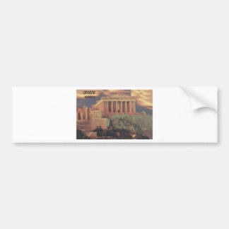 Greece Athens Parthenon Clouds (St.K) Bumper Sticker