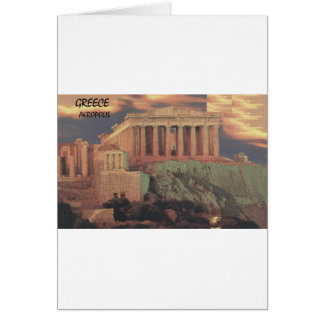Greece Athens Parthenon Clouds (St.K) Card