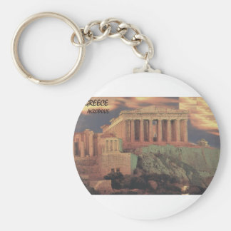 Greece Athens Parthenon Clouds St K Keychains
