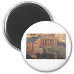 Greece Athens Parthenon Clouds (St.K) Refrigerator Magnet