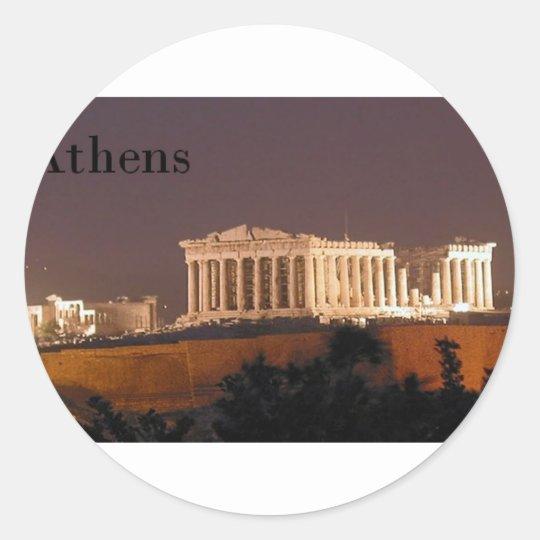 Greece Athens Parthenon (St.K) Classic Round Sticker