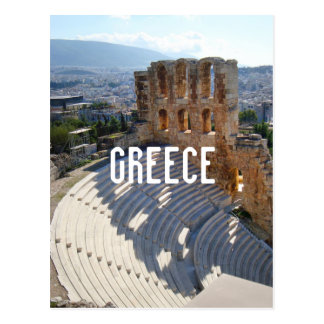 Greece Athens Theater Ruins Postcard