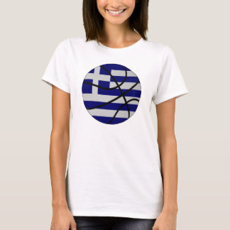 Greece Basketball Ladies Baby Doll T-Shirt