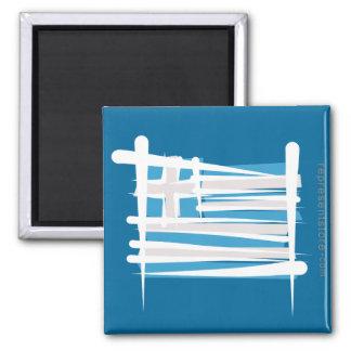 Greece Brush Flag Fridge Magnet