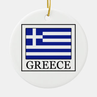 Greece Ceramic Ornament