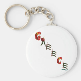 Greece Chili Peppers Keychain