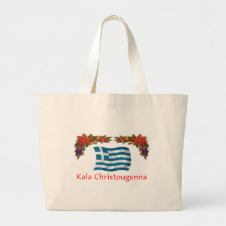 Greece Christmas Jumbo Tote Bag