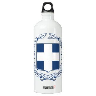 Greece Coat of Arms Aluminum Water Bottle