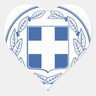 Greece Coat of arms GR Heart Sticker