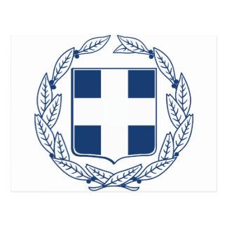 Greece Coat of Arms Postcard