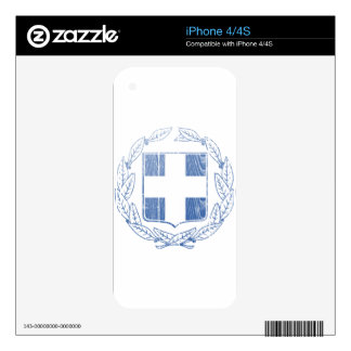 Greece Coat Of Arms Decal For iPhone 4S
